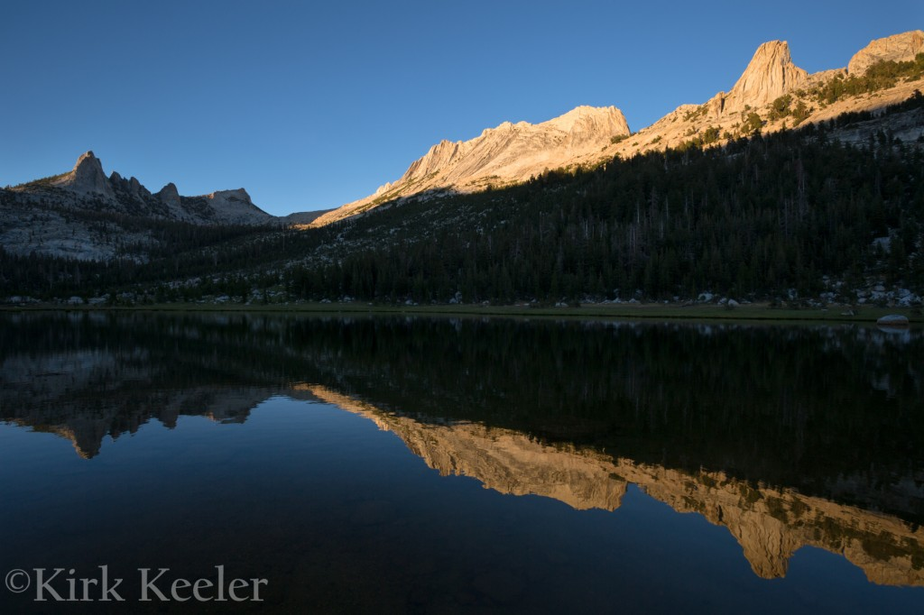 Sunset Reflection, Echo Peaks and Matthes Crest