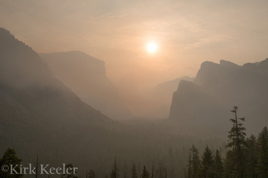 Smokey Sunrise From Tunnel View, July 28th