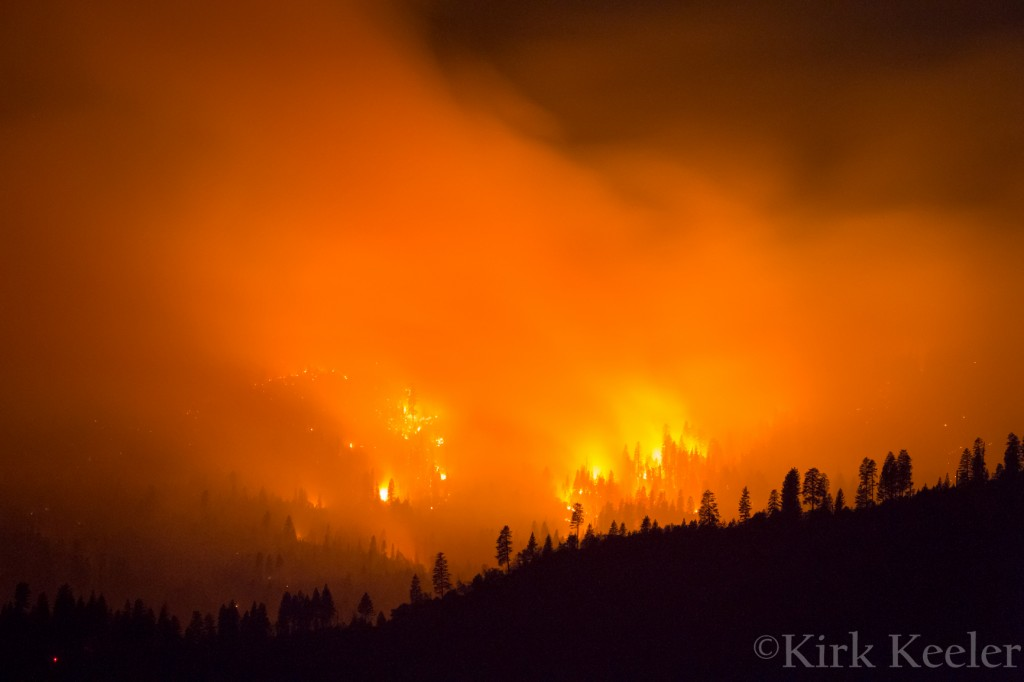 El Portal Fire from Hwy 120, July 30th, 10:48pm