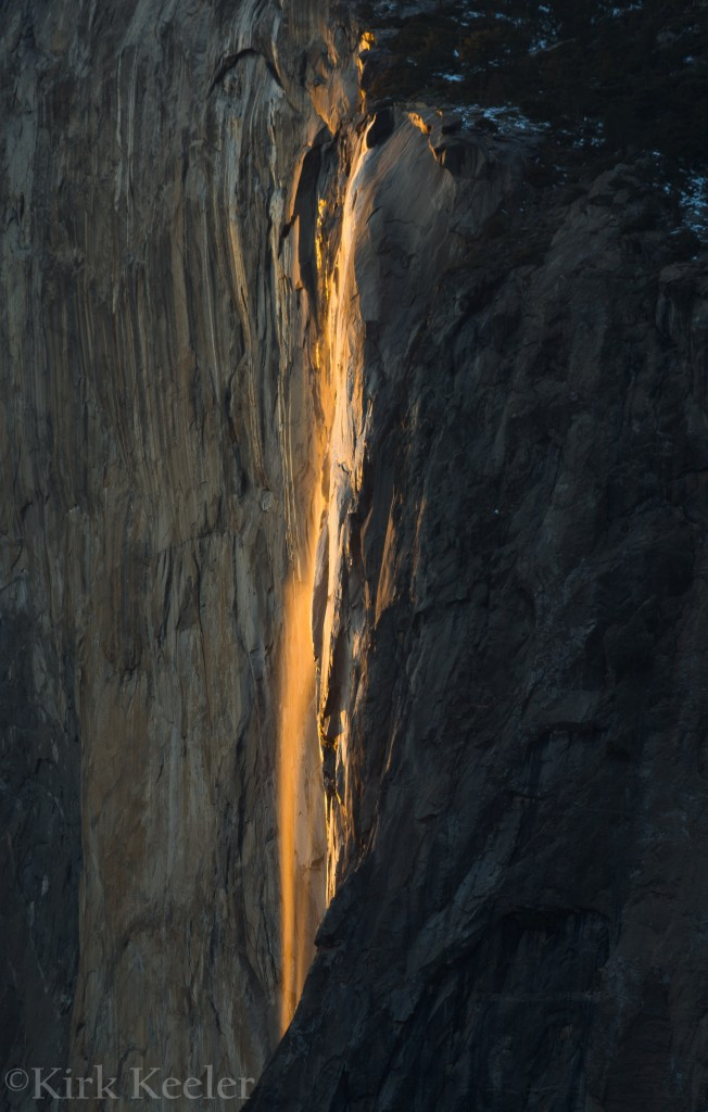 Horsetail Falls, February 17, 2012, 5:28 pm