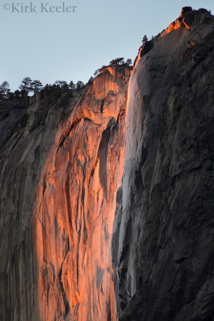 Horsetail Fall, February 3, 2013, 5:26 pm