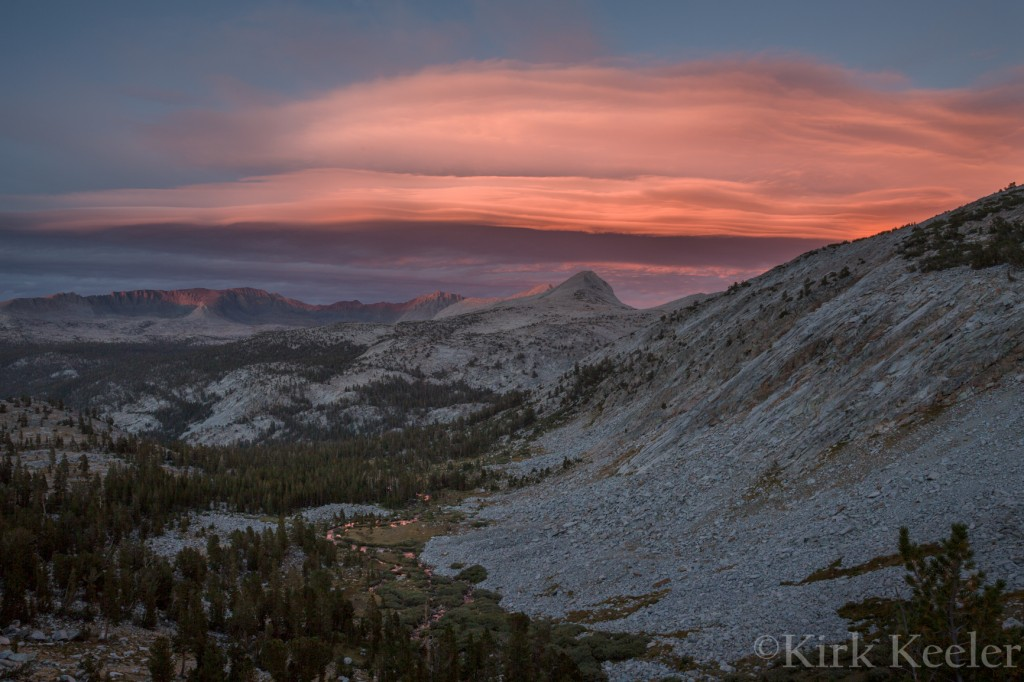 Sierra Wave Cloud over Kuna Crest and Donahue Pass