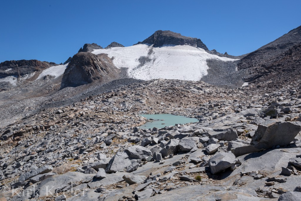Lyell Glacier, just above the northern tarn, August 30th, 2014