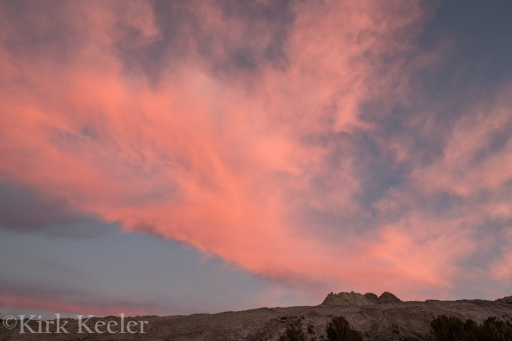 Sunset Clouds, Maclure Peak