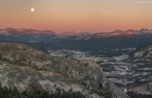 Sunrise over Tuolumne Country