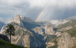 Storm and Rainbows over Little Yosemite Valley, from Washburn Point