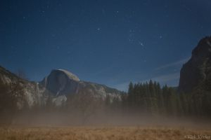 Half Dome and Rising Orion, from Cooks Meadow, December 1st, 2014