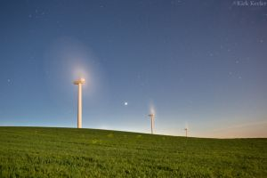Dawn, Venus, Windfarm near Rio Vista