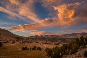 Sunset Clouds over the Kuna Crest