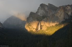 Evening Light on Bridalveil Fall