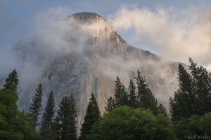 Sunrise Light and Clouds, El Capitan